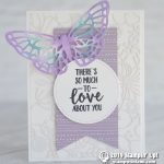 CARD: So Much Love Butterfly Card from the Abstract Impressions Stamps