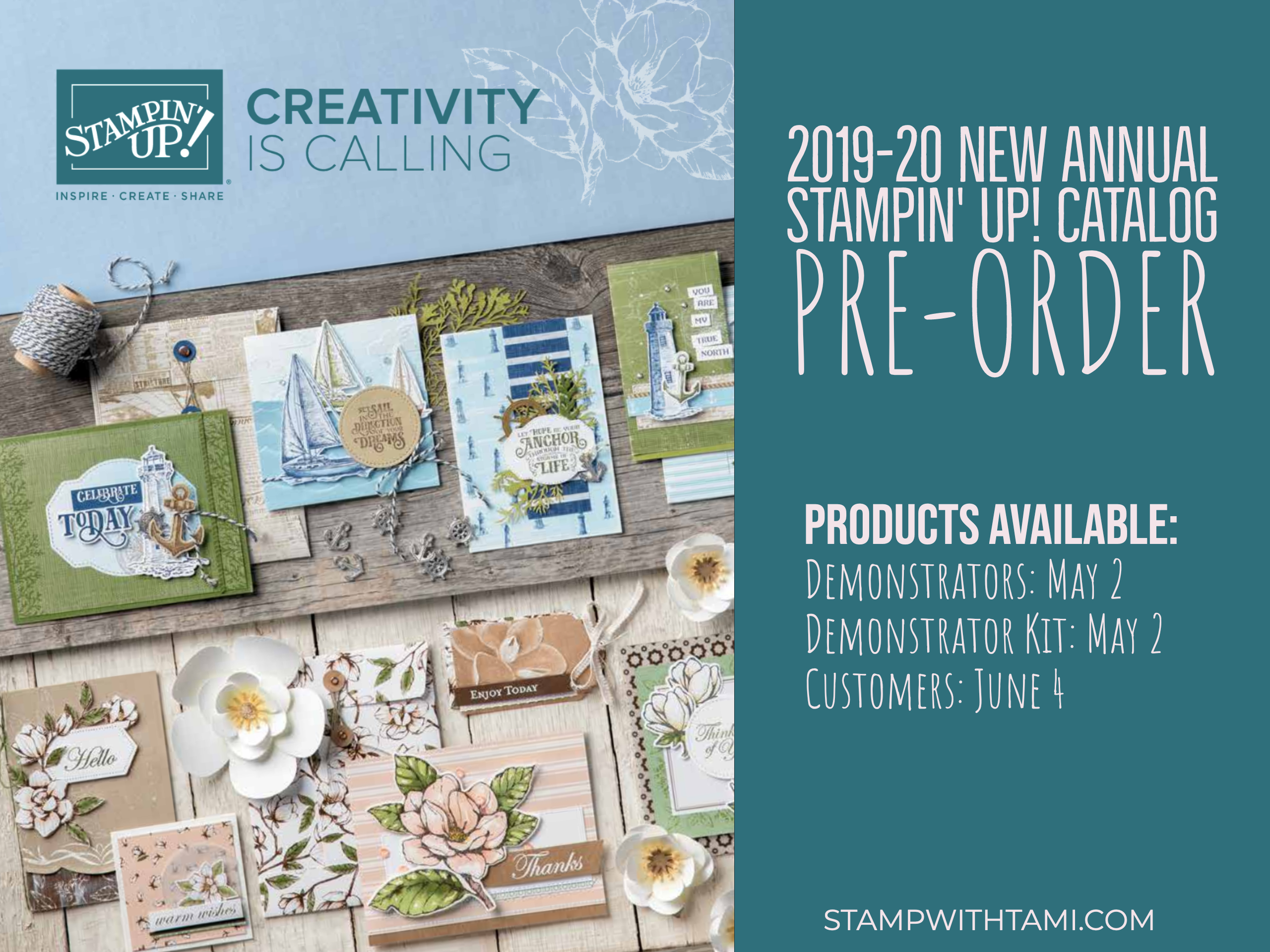 NEWS! Stampin Up New Catalog Pre-Order is Happening Now