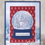CARD: Happy Holidays snow globe Christmas card