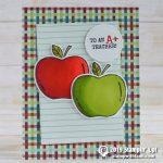CARD: An Apple for the Teacher card from the new Harvest Hellos