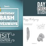 DAY 3 of my 5 Day Birthday Bash Giveaways  – Enter Here