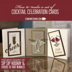 ONLINE CLASS & VIDEO: How to make a set of Cocktail Celebration Cards
