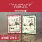 ONLINE CLASS & VIDEO: How to make a Holiday Card with the Snow Front builder set
