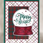 CARD: Merry & Bright Snowglobe Holiday card – new