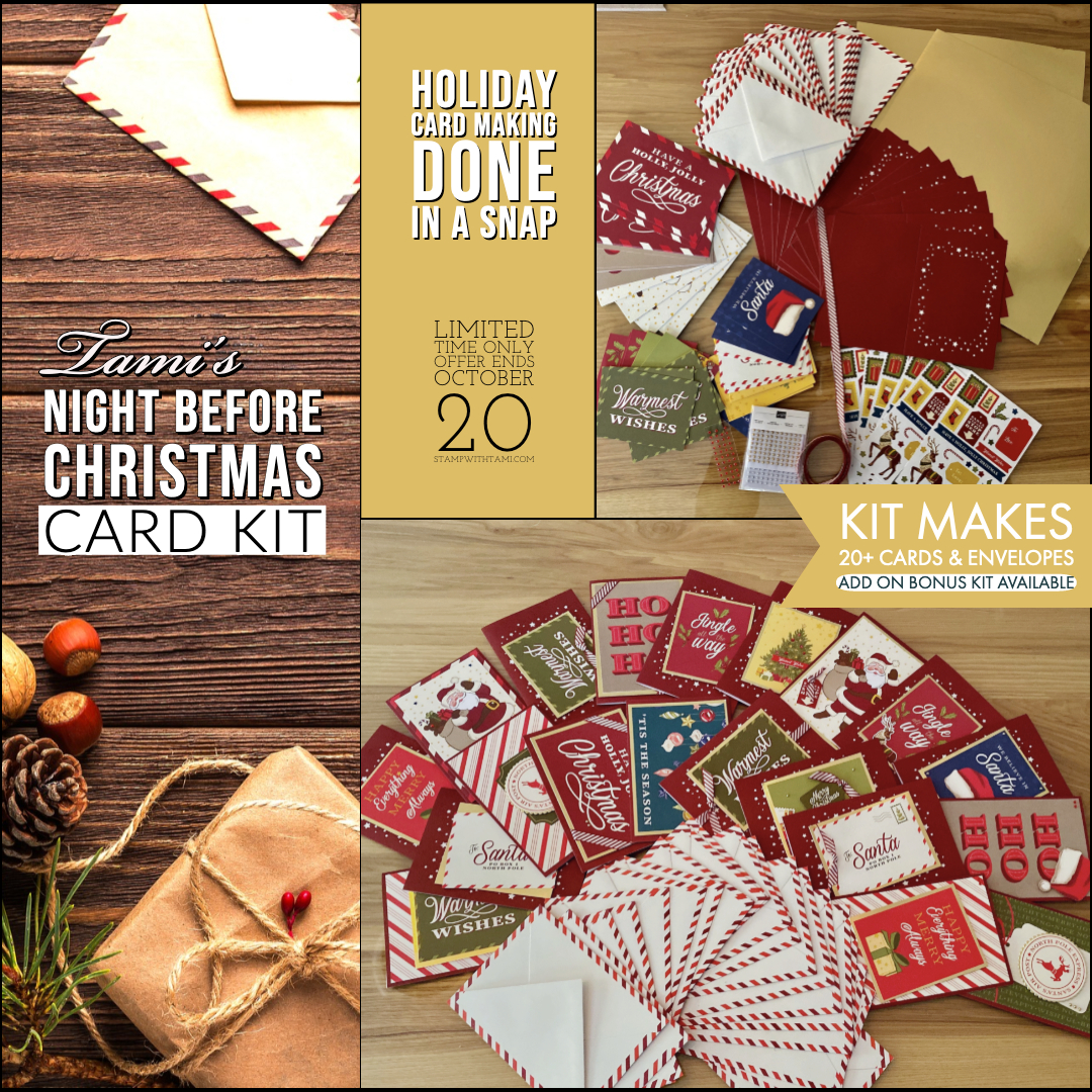 special card kit night before christmas quick card kit