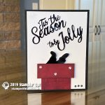 CARD: 'Tis the Season to be Jolly as Santa comes down the chimney