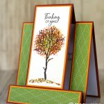 CARD: Thinking of You Step front card from the Snow Front stamps