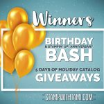 Winners of my Birthday Bash – 5 Days of Holiday Catalog Giveaways Revealed