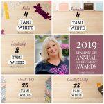 Stampin Up 2019 Awards – Thank You!