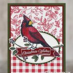 CARD: Christmas Wishes Cardinal card from the Toile Christmas Bundle