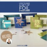 BLOG HOP & VIDEO: How to make Foil Z Fold Christmas Card