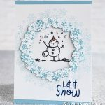 CARD: Let It Snow card from the Snowman Season Stamp Set