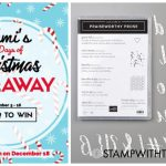 DAY 1 of  12 Days of Christmas Giveaways  – Enter Here