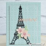 CARD: Merci Eiffel Tower Card from the Parisian Blossoms Suite