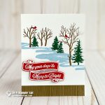 CARD: Merry & Bright Holiday Card from the Snowfront Stamp Set