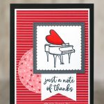 CARD: Just a note of thanks card from the Music from the Heart stamps