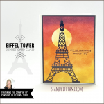 VIDEO: How to make an Eiffel Tower Sunset Card