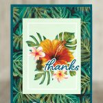 CARD: Thank you card from the Tropical Oasis Memories & More Pack
