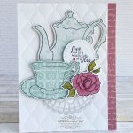CARD: Love is a warm cup of tea card from the Tea Together stamps
