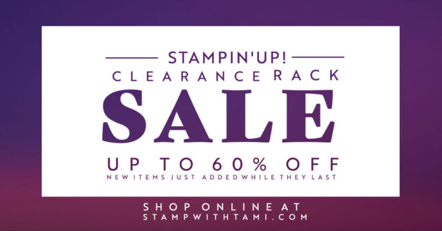 Stampin' Up! Clearance Rack Sale