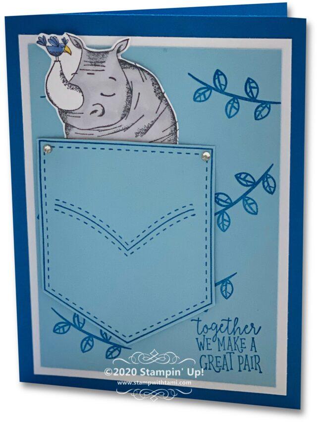 Animal Outing Hippo Pocket Card