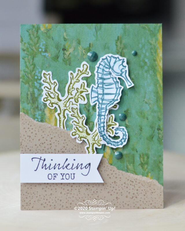Thinking of You Card - Seaside Notions Stamp Set