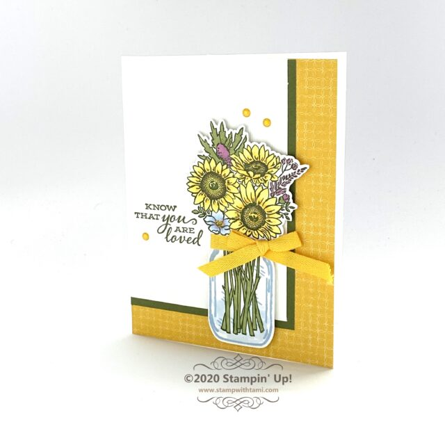 You are Loved Card - Jar of Flowers Bundle