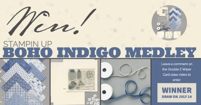 Win Stampin Up BoHo Indigo medley