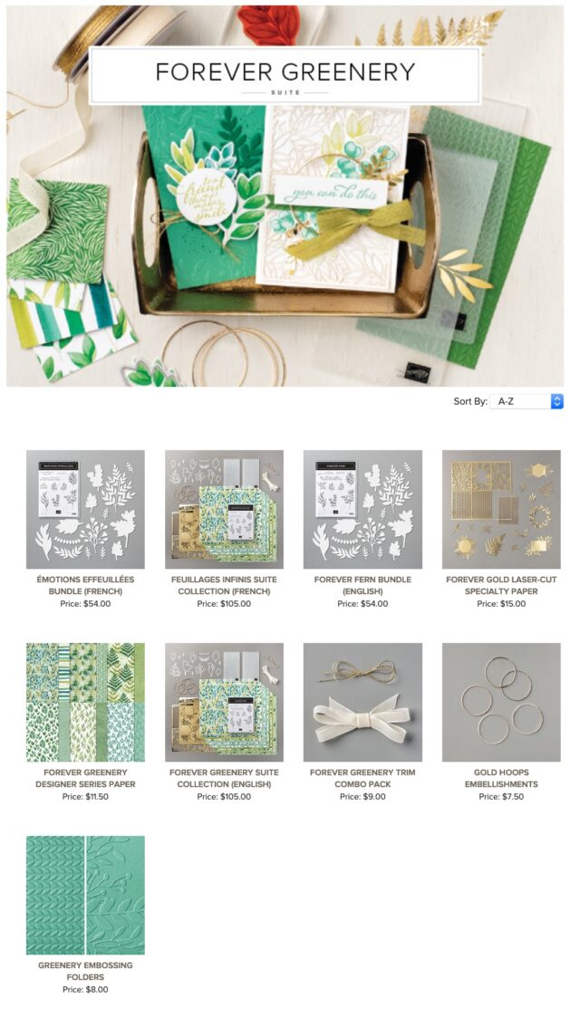Easel Card Using Forever Greenery Suite