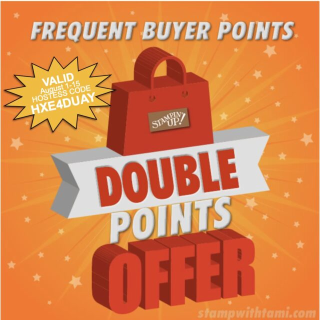Double Frequent Buyer Points
