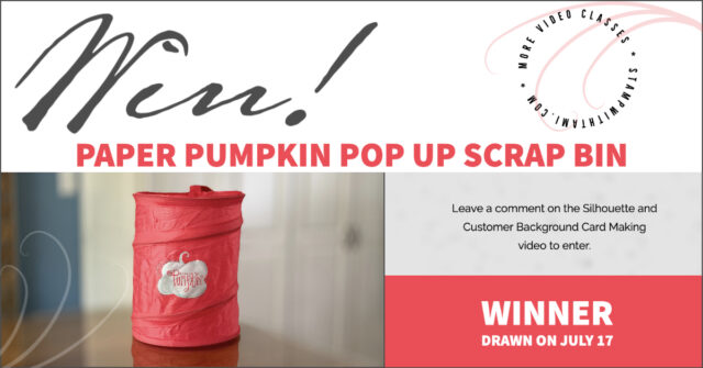 Win Paper Pumpkin Pop Up Scrap Bin