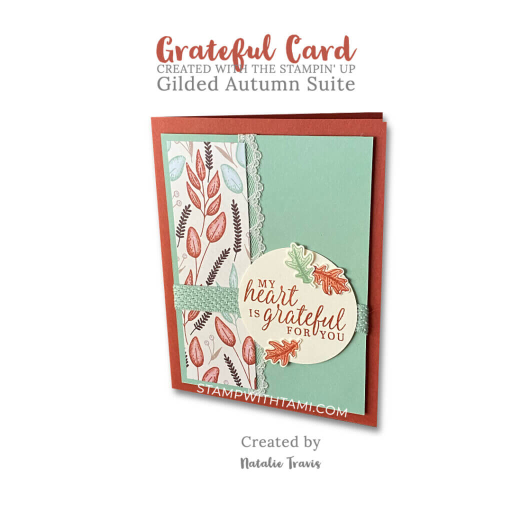 beautiful autumn card natalie travis stampin up