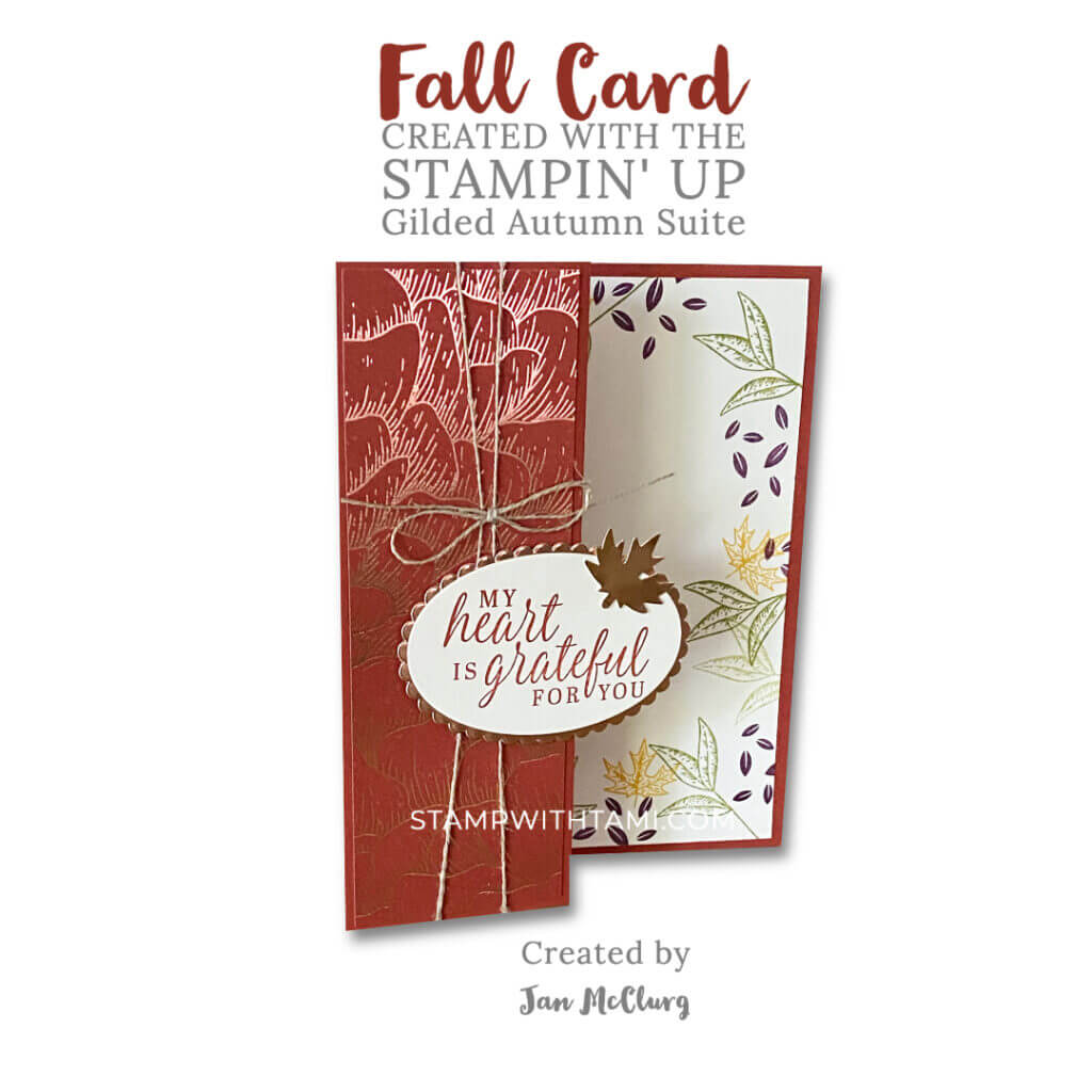 beautiful autumn jan mcclurg stampin up z fold