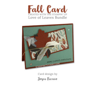 love of leaves stampin up 2020 holiday mini catalog
