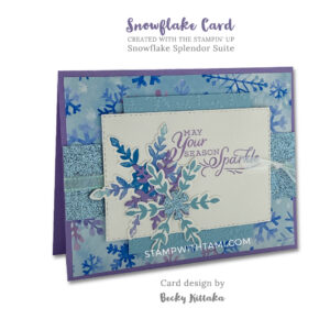 snowflake splendor stampin up 2020 holiday mini catalog