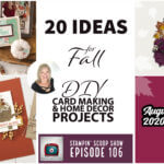stampin up 2020 fall DIY paper crafting project ideas and tutorial copy