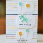 stampin up hippo happiness unicorn
