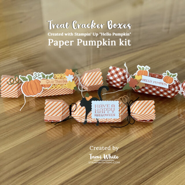 Hello Pumpkin Kit treat cracker boxes