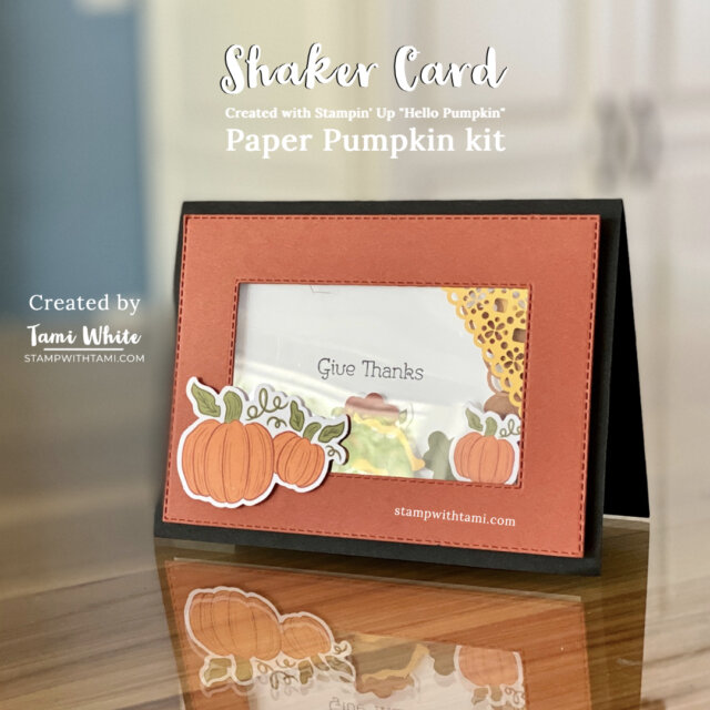 created with stampin Up! Hello Pumpkin Kit