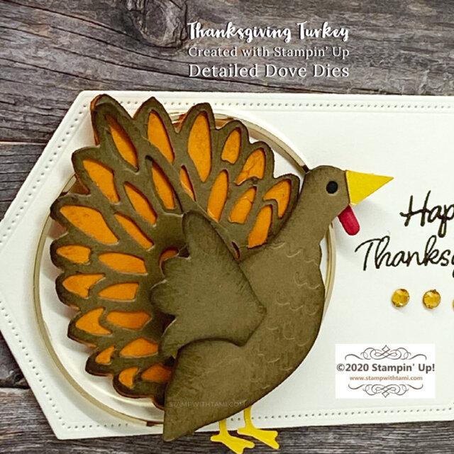 Making a Thanksgiving Turkey Card