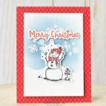 CARD: Merry Christmas from the Snowman Season card