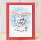 CARD: Merry Christmas from the Snowman Season card