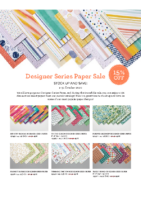 15% OFF DESIGNER PAPER SALE