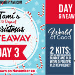 DAY 3 of  10 Days of Christmas Giveaways  – Enter Here