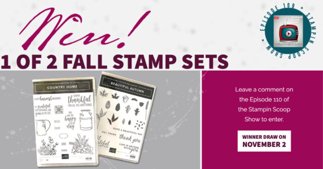 Win 1 of 2 fall stamp sets