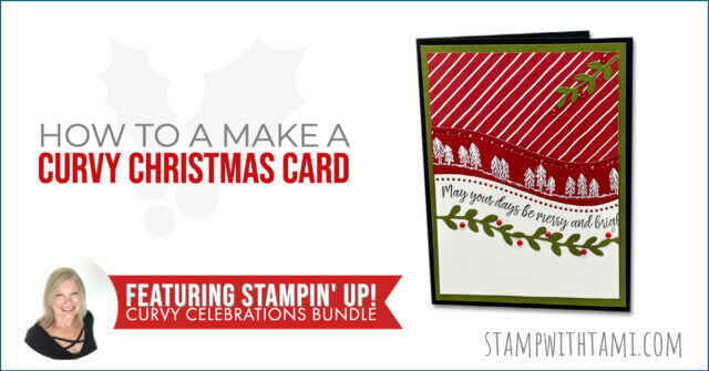 How To Make A Curvy Christmas Card