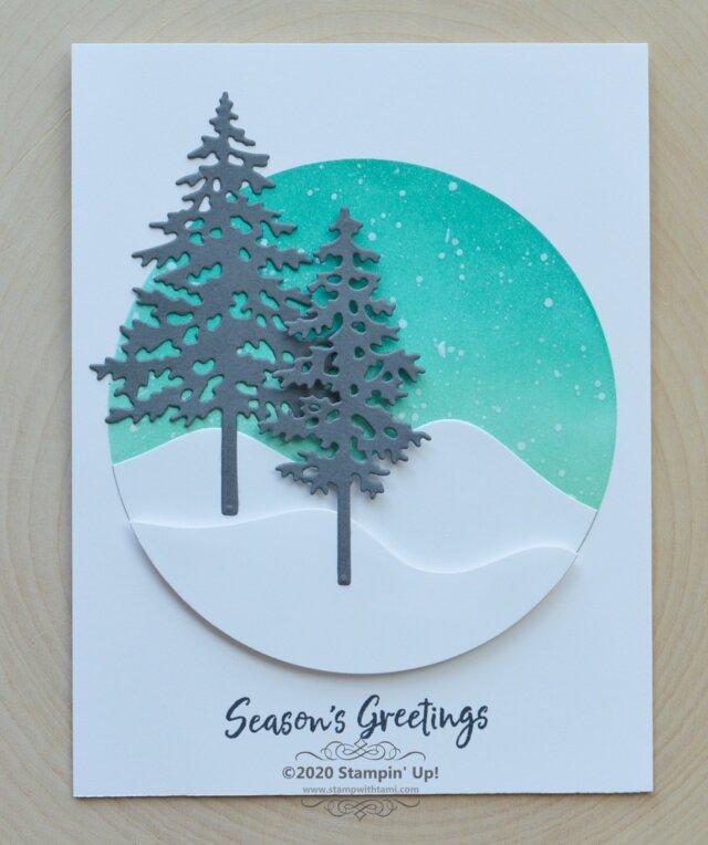 Season's Greetings Card From In The Pine Bundle