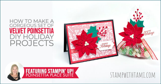Velvet Poinsettia Holiday Projects