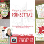 Playing with pretty poinsettias and more DIY crafting – Episode 110