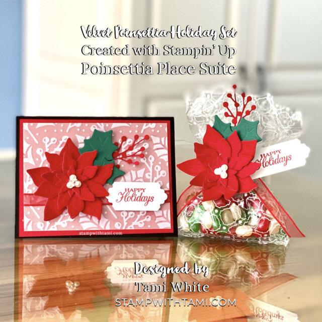 Velvet Poinsettia Holiday Set